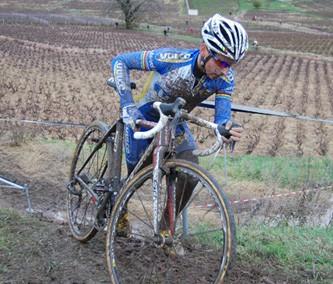 Clément Venturini en pleine course